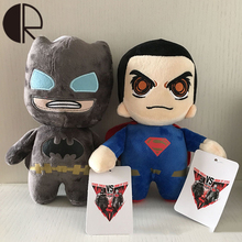 Movies Action Figures Stuffed Animals Toys 20CM Avengers Doll Batman VS Superman Soft Baby Plush Toy For Friend Present Kid Gift