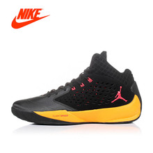 Intersport Original NIKE Jordan men's Breathable Cool Basketball Yellow and Black shoes sneakers(China)