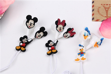 Cartoon Mickey Mouse Earphone 3.5mm In-Ear Wired Earphone Silicone For MP3 MP4 Player PSP 100pcs