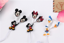 Cartoon Mickey Mouse Earphone 3.5mm In-Ear Wired Earphone Silicone For MP3 MP4 Player PSP 100pcs(China)