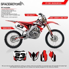 MX Graphics decals wrap dual layer stickers kit for motorcycle CR CRF CRM CRFX CRFR CRFL XR X R L 250cc 650cc 2000 - 2016 year(China)