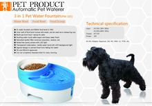 frees shipping Pet  product dog bowl automatic pet  feeder  automatic  dogs feeding   3 in 1 cat bowl dog water fountain