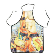 Novelty Cooking Kitchen Repairman Print Sexy Apron Baking Present Pinafore Chef Funny funny apron(China)