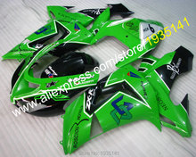 Hot Sales,For Kawasaki NINJA ZX10R 06 07 fairings black green bodywork ZX-10R 2006 2007 Cowling parts ZX 10R (Injection molding)(China)