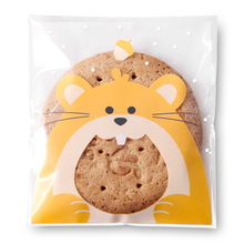 7*7cm 100 sets cookie food Plastic Bag mouse print Moisture Proof Food bread snacks candy Package Christmas Gift Packages