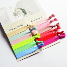 AKWZMLY 1Set=6pcs Elastic Hair Band Women Girls Hair Accessories Candy Color Solid Sports Handband Lady Cloth Hair Tie Ropes