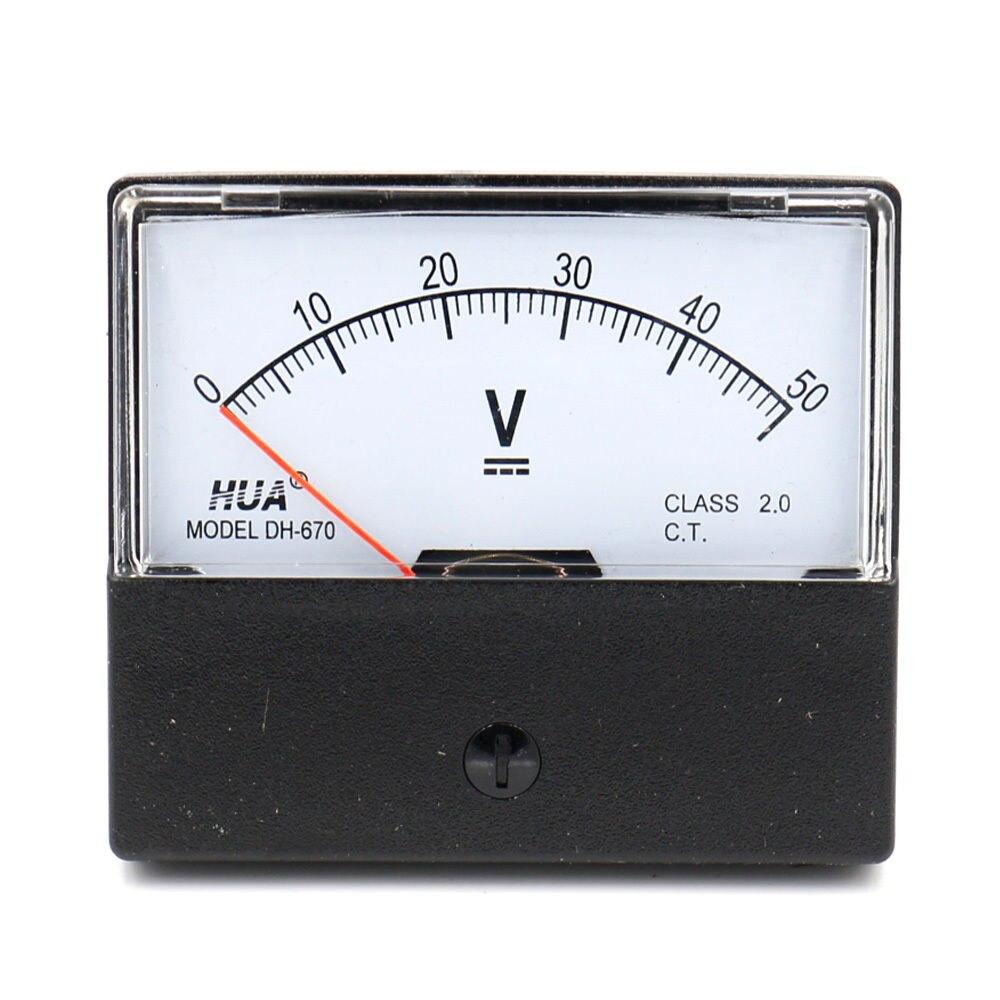 1Pcs New DC 3V Square Shaped Voltage Panel Meter Voltmeter 91C4 DC 0-3V