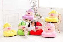 Fancytrader Giant Lovely Soft Plush McDull Pig Mat Tatami Chair  Stuffed Cartoon Anime Pig Sofa Bed for Kids