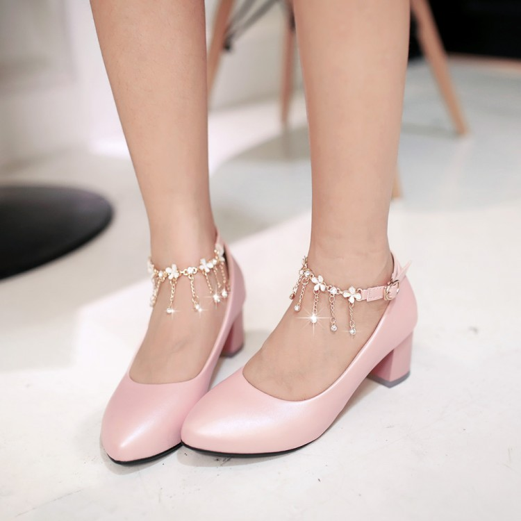 2016 Spring new women pumps Ladies Diamond Beaded girl shoes sweet white small yards 32 33 wedding shoes Bridesmaid big size 43<br>