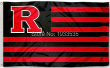 Rutgers Scarlet Knights Stars and Stripes Nation Flag 3x5ft(China)