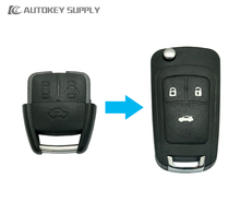 Free shipping Car-styling for Modified Chevrolet 3 Button Remote Flip Key + Double program (293/300) for car key(China)