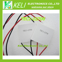 Free Shipping 5PCS/LOT TEC1-12706 12706 TEC Thermoelectric Cooler Peltier 12V New of semiconductor refrigeration TEC1-12706