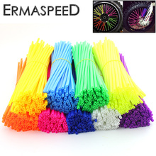 36pcs Colorful Florescent Motorcycle Wheel Rim Cover Spoke Skins Wrap Tubes 17cm for Dirt Bike KTM 85 125 250 450 500 Honda CRF