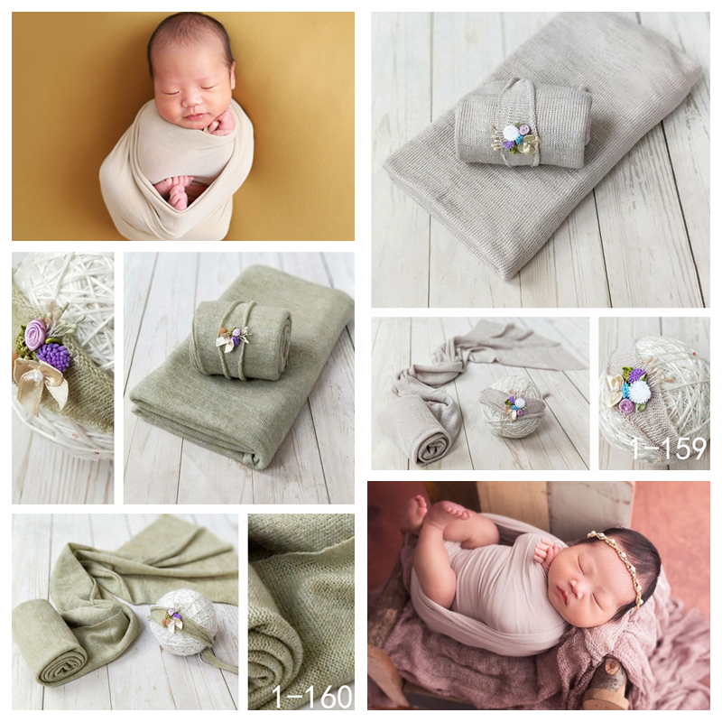 Fashion Newborn Baby Photography Props Floral Wrap Blanket Decorative Baby Shooting Flower Mat Retro Infant Photo Accessories 1