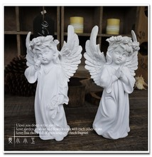 Free Shipping A Pair Holy White Angel Resin Ornaments Decorations Wedding Gifts Lucky Christmas Gift