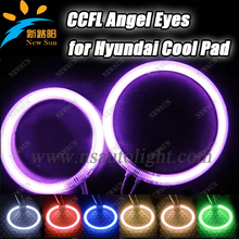 Super Bright CCFL Angel Eyes for Hyundai Cool Pad,Halo rings ,Car CCFL Angel Eyes kit,auto headlight Free shipping