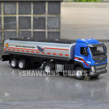 1:50 DIECAST METAL VOLVO OIL TANK TRUCK MODEL TOYS TANKER REPLICA SOUND & LIGHT(China)