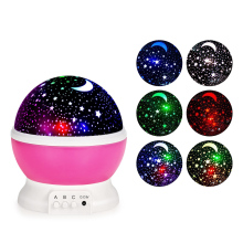 Original LightMe Stars Starry Sky LED Night Light Projector Luminaria Moon Novelty Table Night Lamp Battery