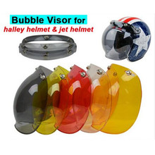 (1pc&5Colors) Hot Sales!!EVO Motorcycle Helmet Visor Jet Retro Hallar Vintage Bubble Visor Half Face Helmet Mask Accessories(China)