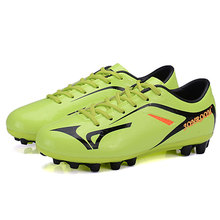 New Style Kids Boys Youth Soccer Cleats Outdoor Durable FG Soccer Training Shoes Football Boots Sports Sneakers(China)