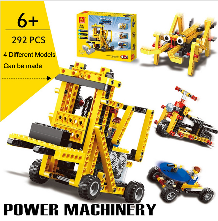 2015 Kids DIY Toys Educational Plastic Building Blocks Electric Toys Learning Bricks Christmas Gifts For Children 4 Models In 1<br><br>Aliexpress