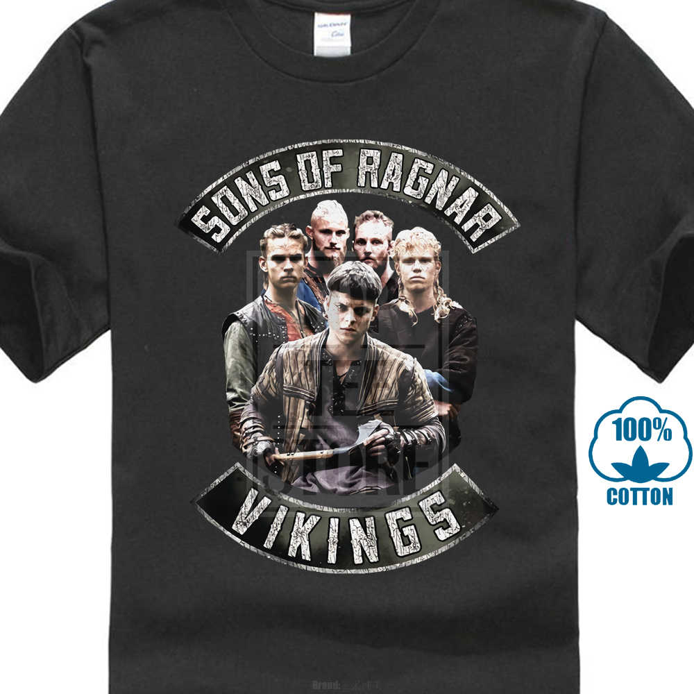 411d42110 Vikings Sons Of Ragnar Licensed Adult T Shirt History Drama Series Tv Show