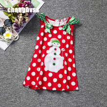 Sweet Flower Girl Dress for Christmas Party Sleeveless Red Color Infant Baby Dresses Toddler Girls Birthday Party Clothing