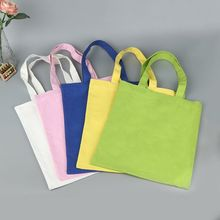wholesale 300pcs/lot factory directly custom Eco Reusable Shopping Bags Cloth Fabric Grocery Packing Recyclable Bag(China)