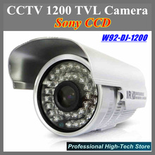 Best quality CCTV 1200 TVL Security Camera Sony CCD Special offer W92-DJ-1200 with 36 Leds IR 25 meters CCTV System with bracket(China)