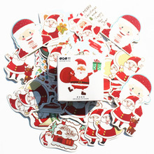 45pcs/Box old man white Christma Stickers Pack Post it Kawaii Planner Scrapbooking Sticky Stationery Escolar School Supplies2017