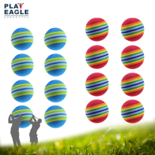 Foam Golf Balls 100 pcs/lot EVA Practice Light-weight Indoor Outdoor Soft Rainbow Stripe Backyard Kids Golf Ball