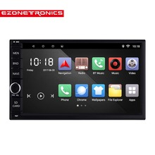 "2 Din Android 6.0 Car Radio Stereo 7""1024*600 Universal Car Player GPS Navigation Wifi Bluetooth Colorful lights remote control(China)"