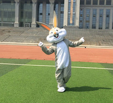 Wholesale Professional Easter Bugs Bunny Mascot Costume  Adult Fancy Dress Cartoon Suit