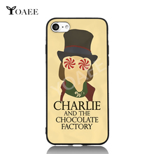 Charlie and The Chocolate Factory Fun Art For iPhone 6 6s 7 Plus Case TPU Phone Cases Cover Mobile Protection Decor Gift