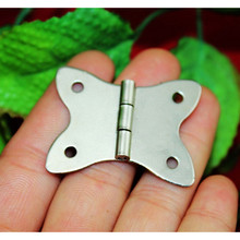 White Butterfly Metal Cabinet Door Luggage Furniture Hinge,4 Holes Decor,Antique Vintage,37*30mm,12Pcs