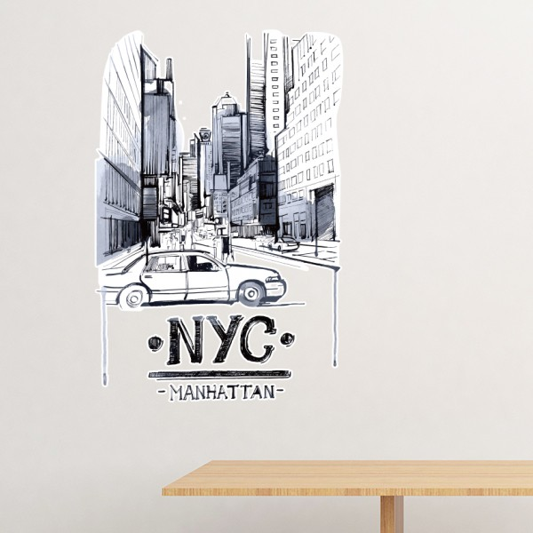NYC Love New York City America Landscape Removable Wall Sticker Art Decals Mural DIY Wallpaper for Room Decal