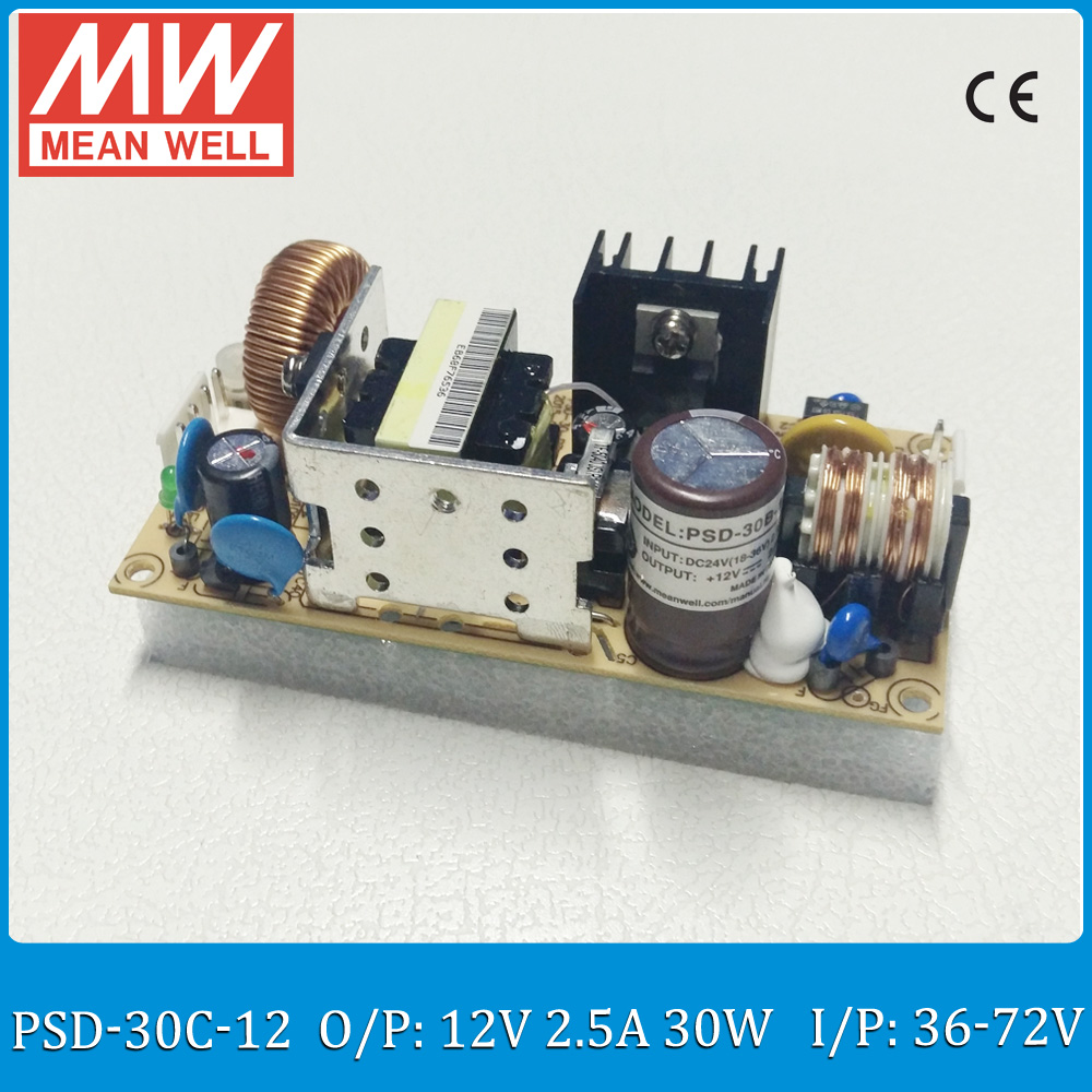 Original MEAN WELL 30W DC DC converter PSD-30C-12 Input 36~72V to output 12V 30W 2.5APCB type dc dc isolated converter<br><br>Aliexpress
