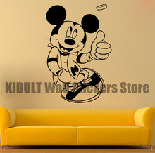 Mickey Mouse Cartoon Wall Stickers Children's Bedroom The Family Room School Plane Wall Decor Vinyl Wall Decals Multicolor