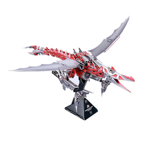 D002Y 3D three-dimensional Paper Robotic Pterosaurs jigsaw puzzle toys for children diy handmade Paper jigsaw puzzles