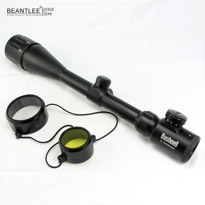 Tactical Optical Sniper 6-24X50EG Riflescope Green Red Dot Hunting Adjustable Tactical Scope Reticle Optical Sight Scope<br>