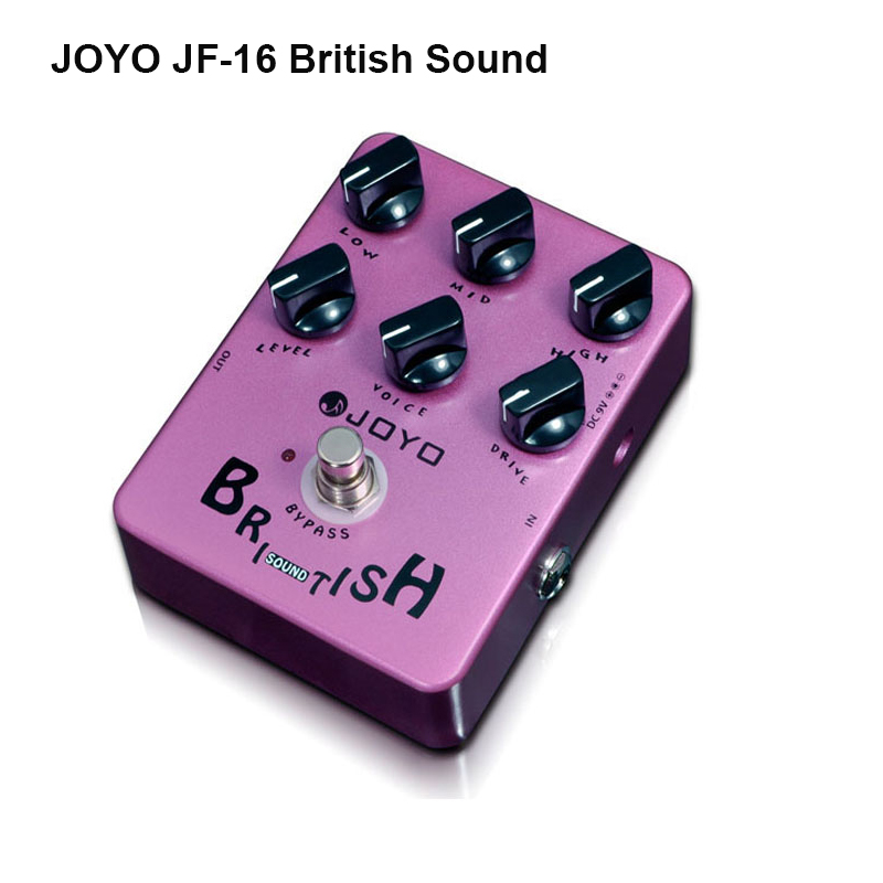 JOYO JF-16 British Sound Guitar Pedal Marshall-amp-simulating 6 Knobs/LED Power Indicator distortion True bypass Free Shipping<br><br>Aliexpress