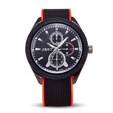 SBAO Brand Factory Quartz Men Silicone Watch Mens Military Wristwatch Male Casual Sports Boy Student Watches 10M Waterproof