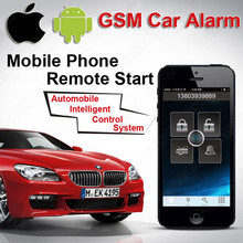 IOS Android GPS GSM Car Push Button Start Remote Moible Start PC Terminal Calling SMS Central Lock Automation Speed Alarm CARBAR