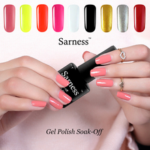 Sarness Long-lasting 8ml 2017 Fashion UV Nail Gel Polish Soak-off LED Lamp Semi Permanent Uv Nail Art Gel Varnish