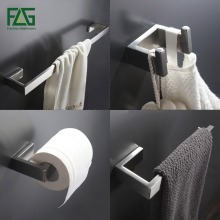 304 Stainless Steel Nickel Brushed Wall Mount Bath Hardware Sets,Towel Bar,Robe hook,Paper Holder,4pcs/set,Free Shipping SS01-4(China)