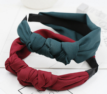 Metting Joura Winter Girls Bohemian Lace Chiffon Knotted Bow Headband Hairband Fashion Vintage Hair Accessories