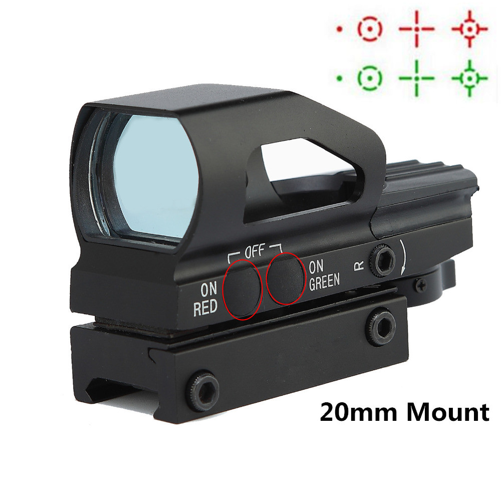 1x23x34 Red Dot Scope Hunting Airsoft Pistol Tactical Optics Air Guns Sight Scopes Chasse Holographic Sight Red Dot Riflescope<br>