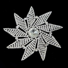 1Pc Rhinestone Applique Crystal Silver Plating Base Sew Pn Applique For Wedding Dress Ornament 888 Stones