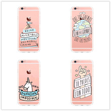 Spain fashion wonderful Cartoon Phone Case For iphone SE 5 5s 6s 7 7plus Transparent Back Cover