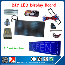 New blue running text advertising led sign board with all accessories DIY programmable led board(China)